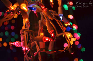 Colorful Christmas Lights by pacmangeek