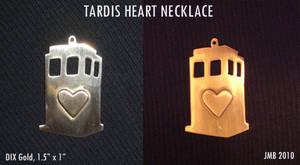 TARDIS heart pendant