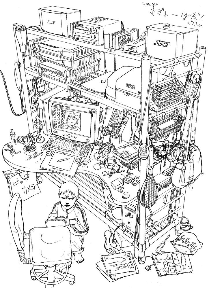 Old my desk. by Ryo-ta