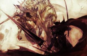 Knight and Dragon by Ryo-ta