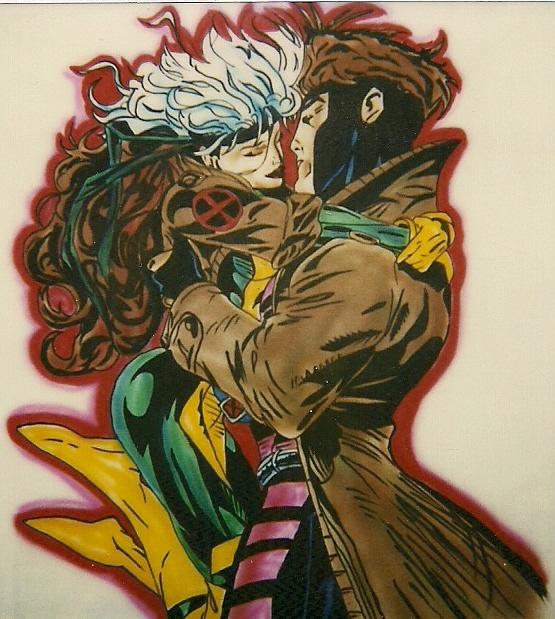 gambit and rogue kiss -#main