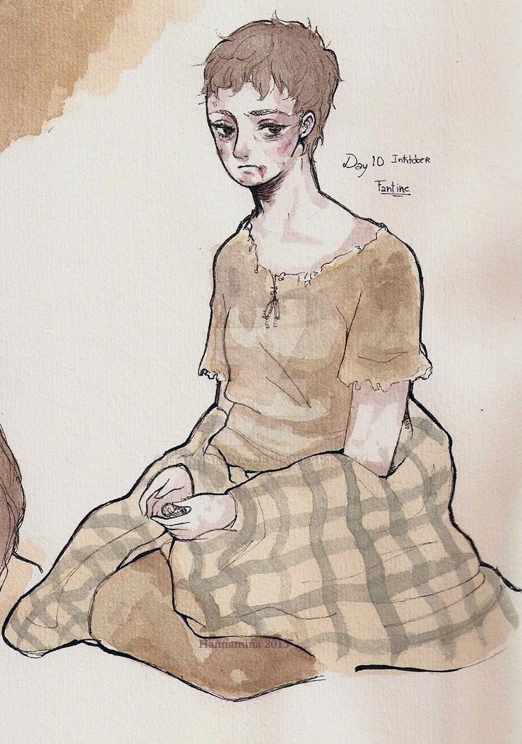 Inktober Fantine by Hannamina