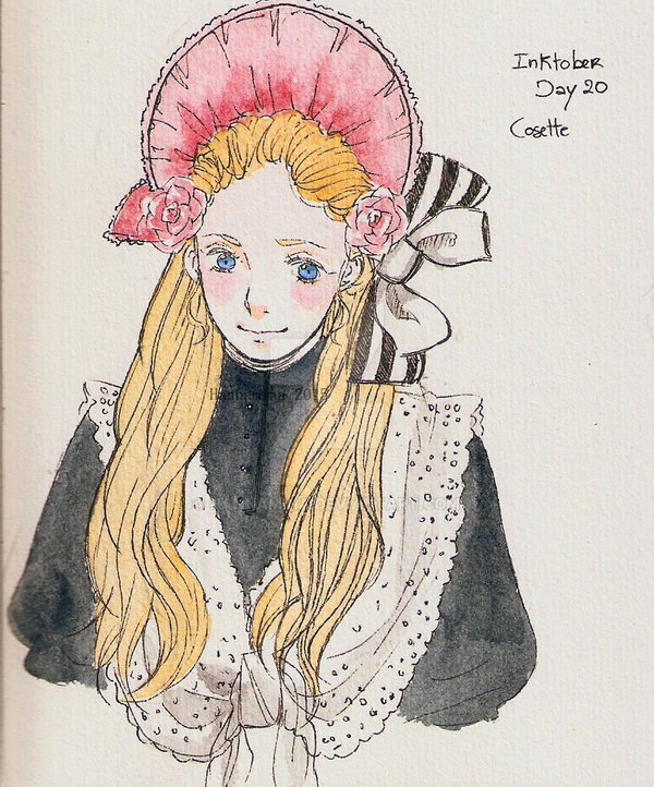 Inktober Cosette day 20 by Hannamina