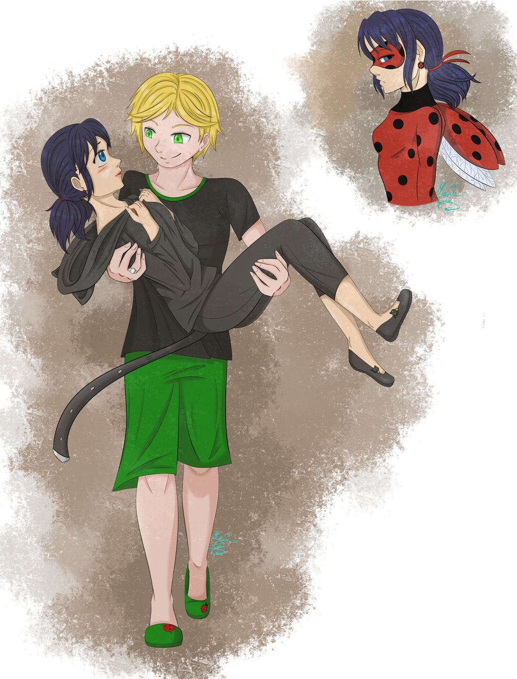 Miraculous fanart (again xD) by MirajaneGosh on DeviantArt I Am Right You Are Wrong