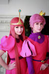 Princess Bubblegum and Prince Gumball cosplay by RinokoCosplay