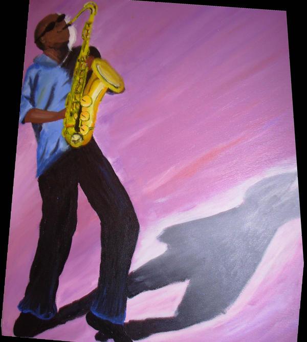 sax man by riverrain