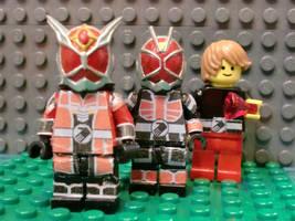 LEGO Masked Riders by 0yakata