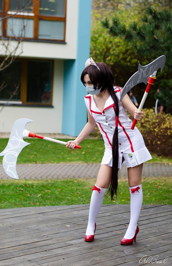 Crimson Akali cosplay by Mayinnes on DeviantArt