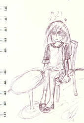 Sketch: Girl in chair