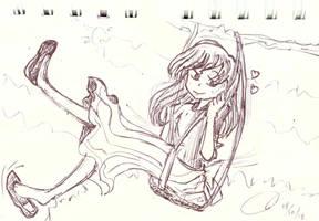 Sketch: Girl in Swing
