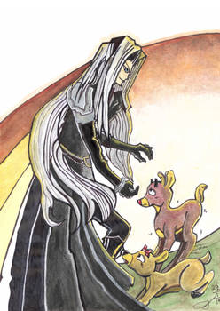 Request: Sephiroth about to capture Rudolph