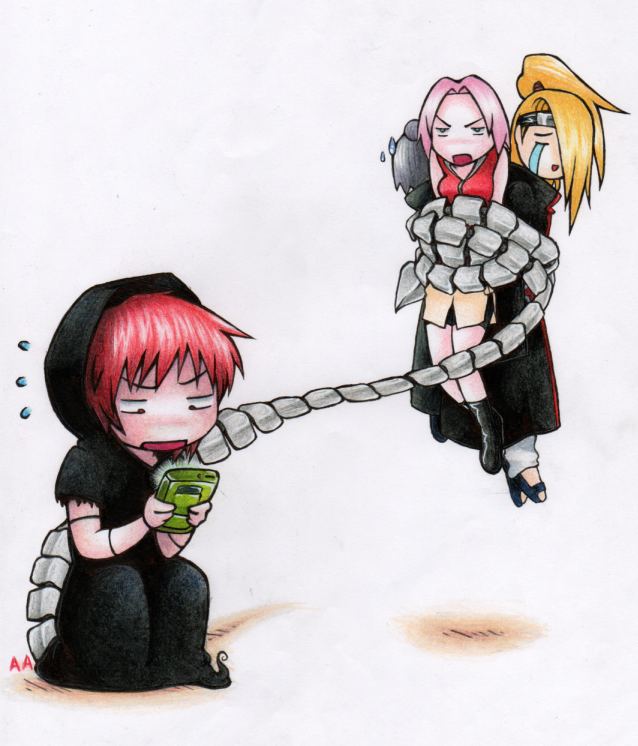 nuestros personajes anime favoritos...bakka!! Sasori_GB_color_by_absinthian_alchemist