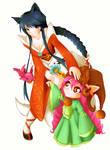 League of Legends Ahri and Lulu