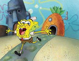 SpongeBob - He's Ready by mike-loscalzo