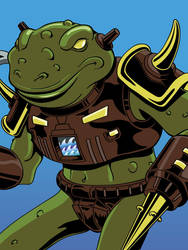 Battle Beasts - Horny Toad by mike-loscalzo