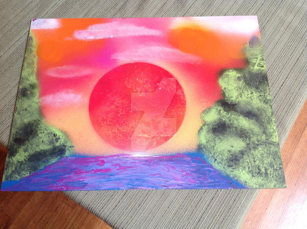Spraypaint sunset by EricaGriswold