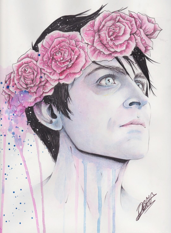 Flower headband drawing tumblr izmirmasajfo Image collections