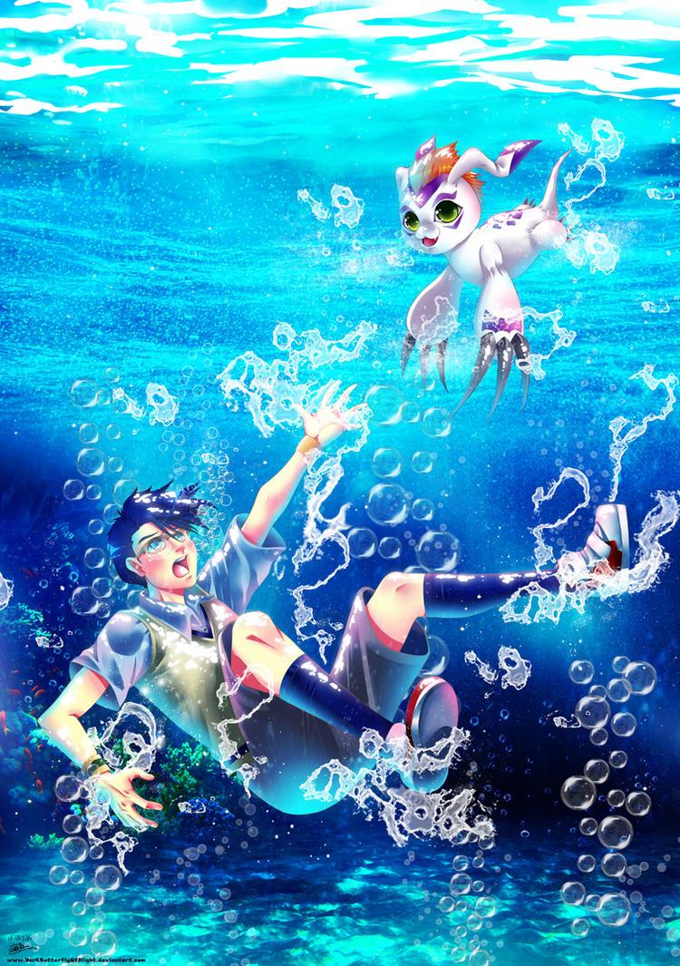 Digimon Adventure - Joe and Gomamon by DarkButterflyOfNight