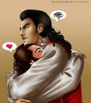 No one hugs like Gaston