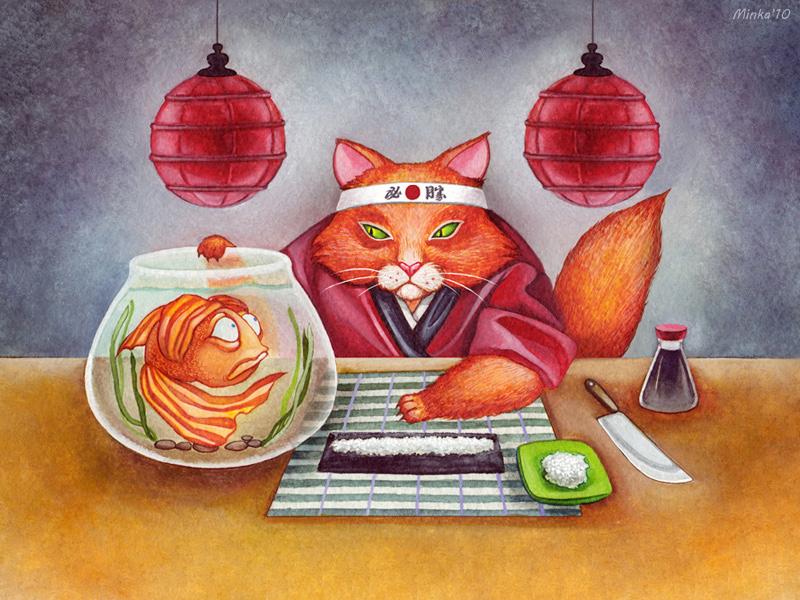 sushi 4 by minkart