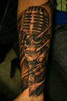 old microphone tattoo by IGORYOSHI