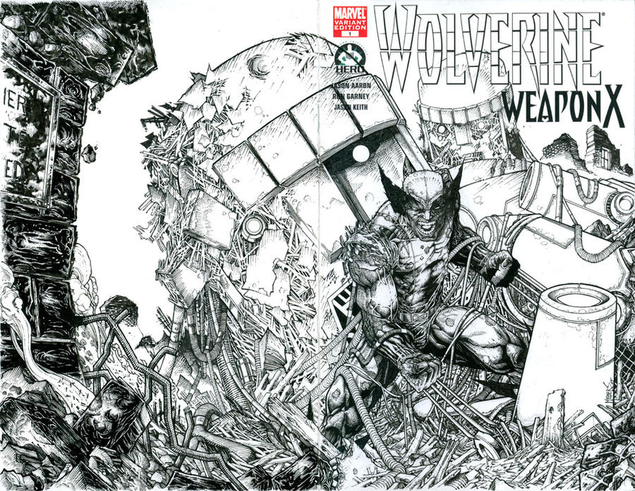 My Wolverine 100 contribution by joshmedorsart