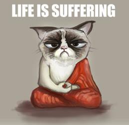 Grumpycat Buddha