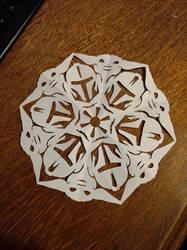 Baby Yoda Mandalorian Snowflake