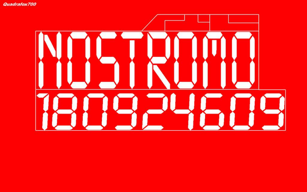 Nostromo boot screen by Quadrafox700