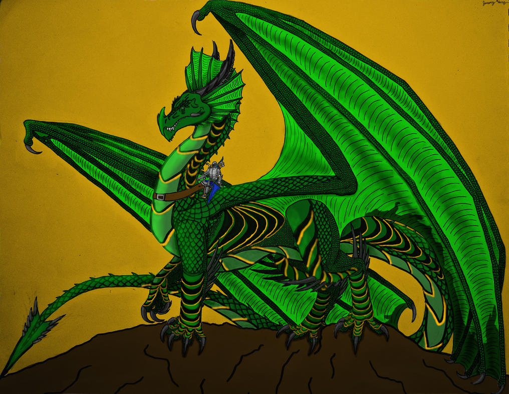 Kaine and Thorinen: Dragon and Rider- Color by Saberrex on DeviantArt