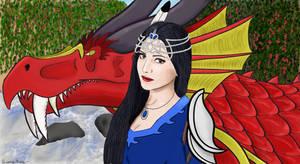 Seleena and Scorchlight- Garden Portrait