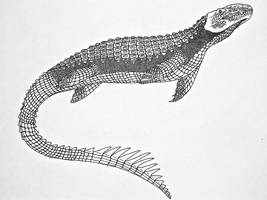 False Mosasaur (Thalassosuchus africanus) by Saberrex