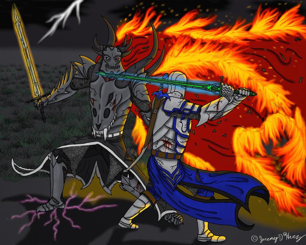 Kaine vs Delthyon- Clash of the Titans