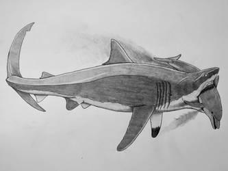 Megalodon vs Macrokentriodon by Saberrex