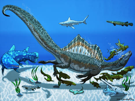 Spinosaurus aegypticus- The Sea King Color Version