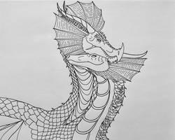 Thorinen and Ninharpa- Dragon Love