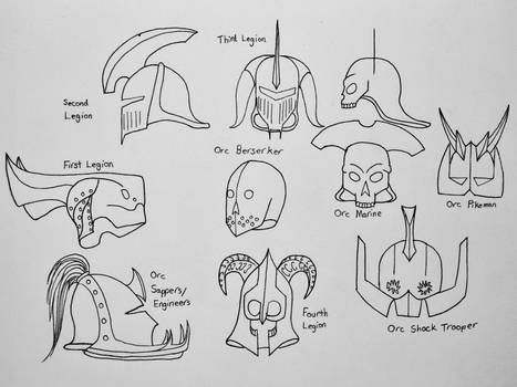 The terror of the Dark Corps: Orc Helmets- Part 1