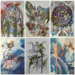 Watercolors with plants