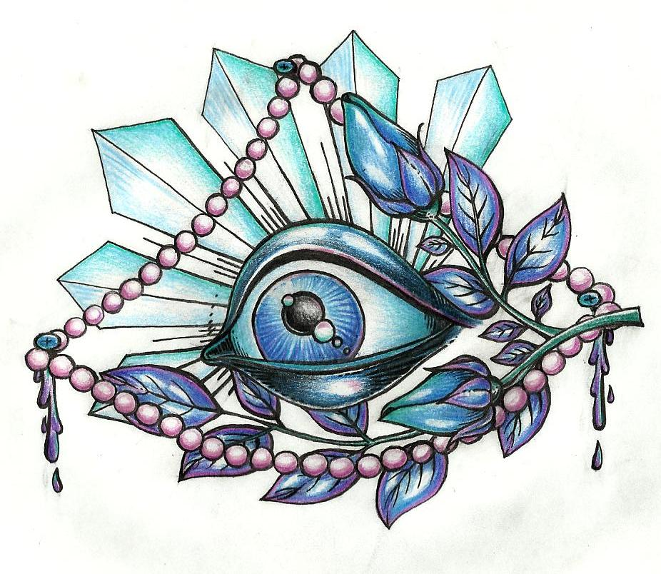 Eyeball Drawing Tattoo