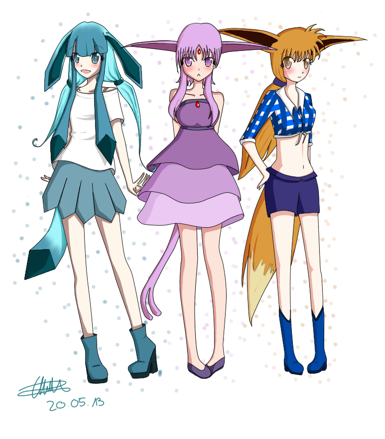 Gift - Pokemon Human version by Kur0pi
