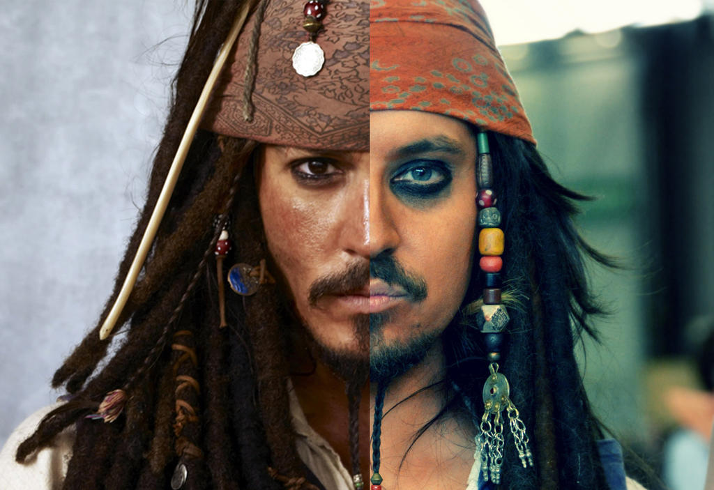 Johnny Depp and me as Jack Sparrow by Ufotinik