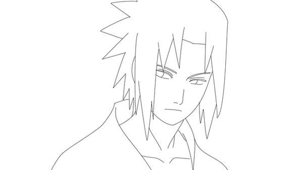 Sasuke Lineart : Sasuke lineart by warbaaz on deviantart