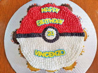 Pokeball cupcake cake by darklizard14