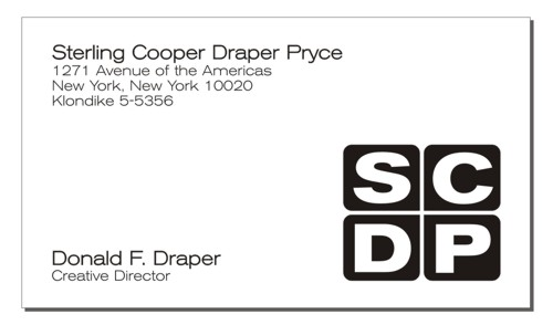 Don Draper Business Card
