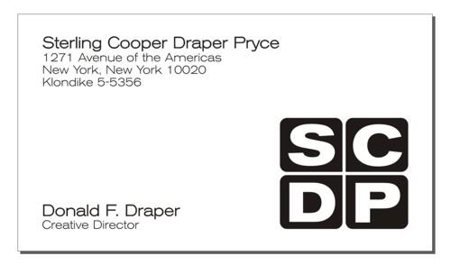 Don Draper's Business Card by redraspus
