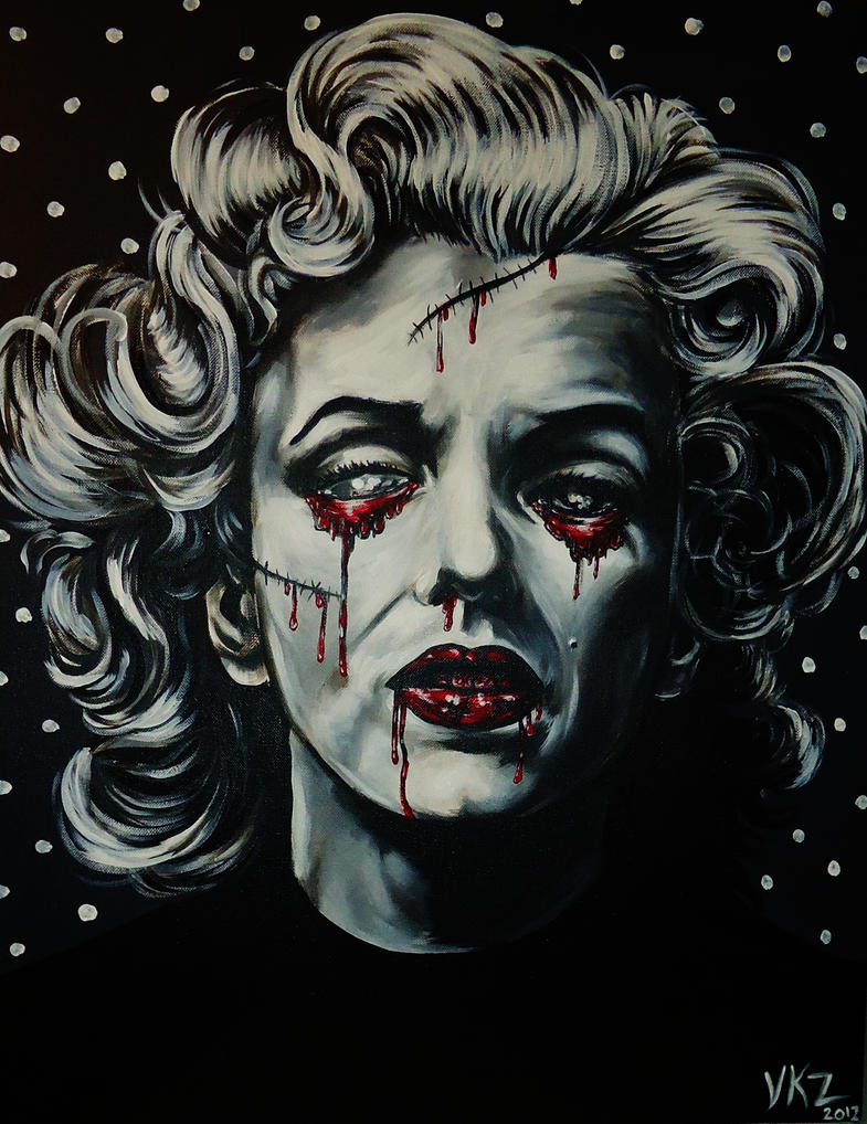Marilyn Monroe Zombie Type thing by VanZanto