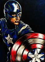 Captain America Painting by VanZanto