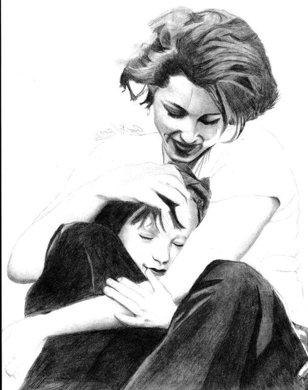 PERSONAJES OFICIALES (del libro Básico) Gillian_Anderson_and_daughter_by_Tifta