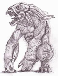 Sammael, the Hellhound by tekuatl