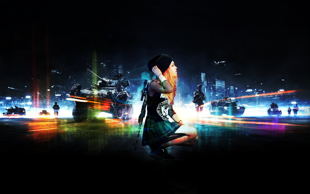 Battlefield 3 Sniper Girl Music Wallpaper By Ninja With Ink